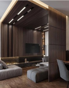 Brilliant Living Room Wood Ceiling Design Ideas That You Should Try01