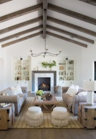 Brilliant Living Room Wood Ceiling Design Ideas That You Should Try12