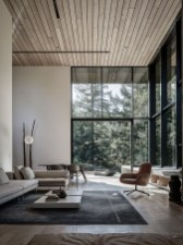 Brilliant Living Room Wood Ceiling Design Ideas That You Should Try14