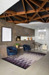 Brilliant Living Room Wood Ceiling Design Ideas That You Should Try23