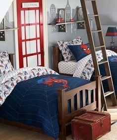 Latest Kids Bedroom Design Ideas With Spiderman Themes03