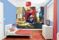 Latest Kids Bedroom Design Ideas With Spiderman Themes19