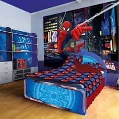 Latest Kids Bedroom Design Ideas With Spiderman Themes28