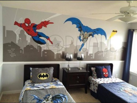 Latest Kids Bedroom Design Ideas With Spiderman Themes34