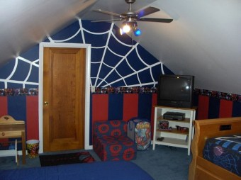 Latest Kids Bedroom Design Ideas With Spiderman Themes36