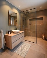 Stunning Black Bathroom Shower Design Ideas That You Need To Copy09