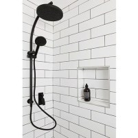 Stunning Black Bathroom Shower Design Ideas That You Need To Copy30