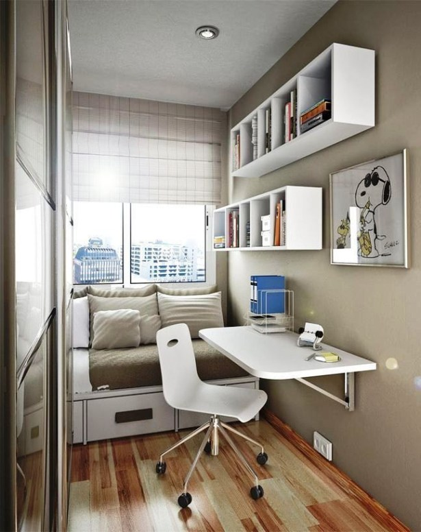 Unusual Small Bedroom Design Ideas For A Narrow Space32