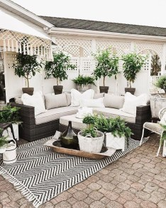 Wonderful Outdoor Living Room Design Ideas For Enjoying Your Days03