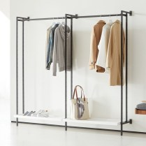 Awesome Diy Small Bedroom Design Ideas With Close Clothing Rack 15