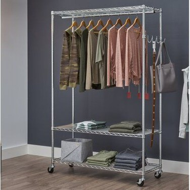 Awesome Diy Small Bedroom Design Ideas With Close Clothing Rack 22