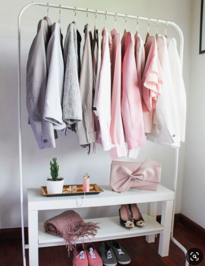Awesome Diy Small Bedroom Design Ideas With Close Clothing Rack 44
