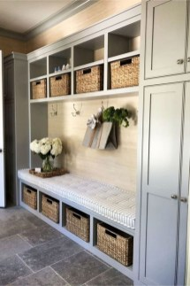 Awesome Farmhouse Mudroom Decorating Ideas To Try Asap 40