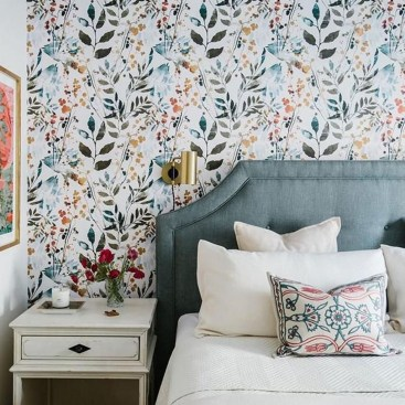 Best Bedroom Wallpaper Decor Ideas That Suitable For Your Family 49