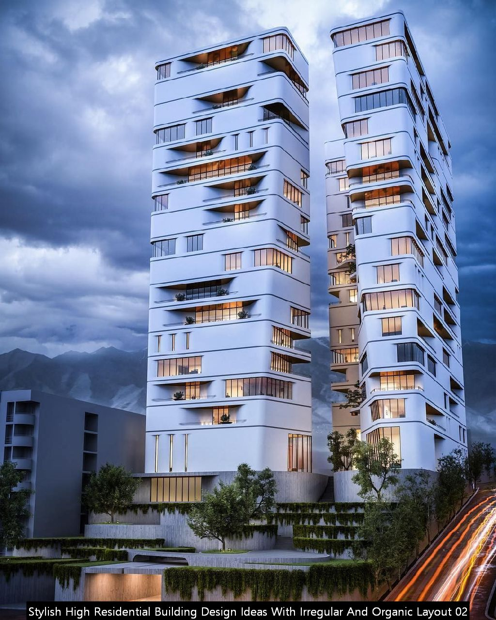Stylish High Residential Building Design Ideas With Irregular And Organic Layout 02