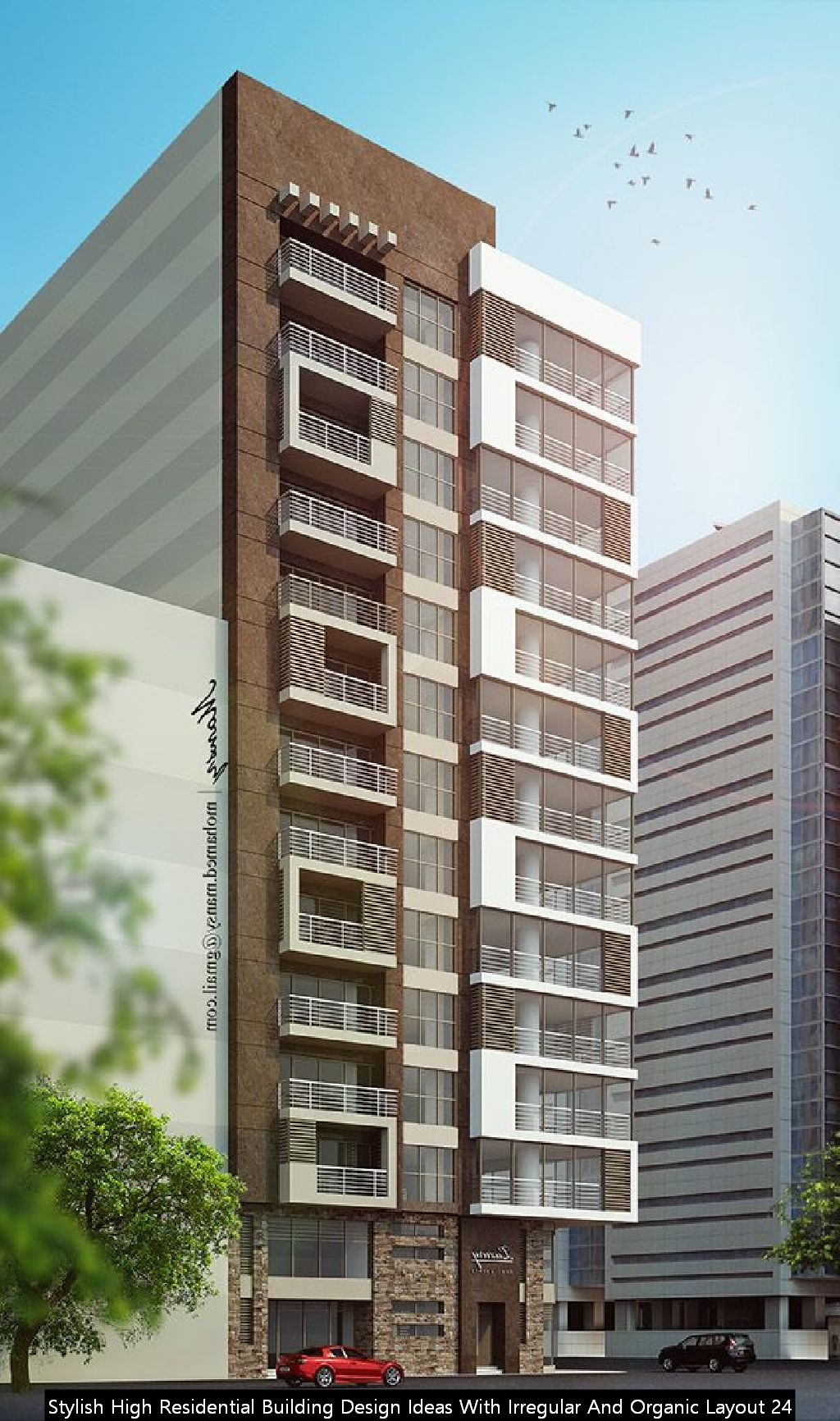 Stylish High Residential Building Design Ideas With Irregular And Organic Layout 24