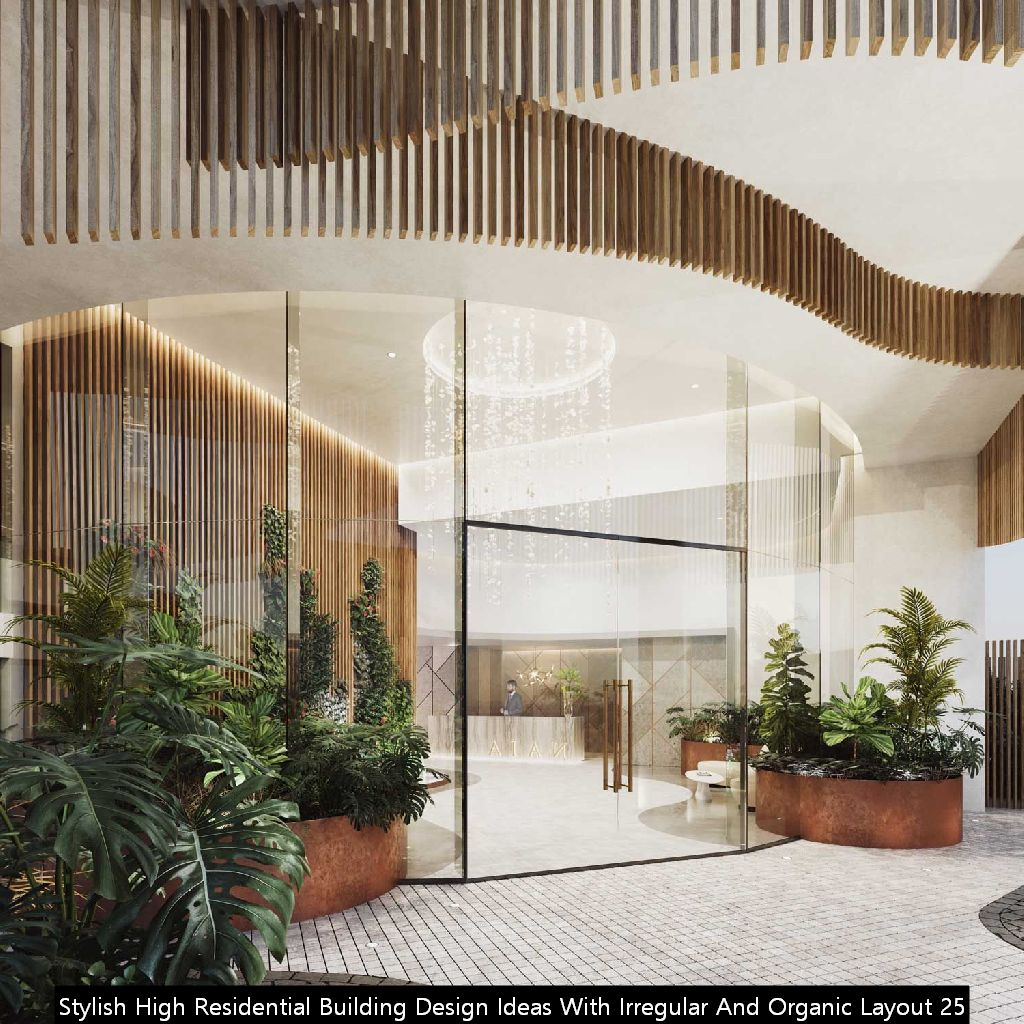 Stylish High Residential Building Design Ideas With Irregular And Organic Layout 25