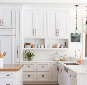 Top White Kitchen Cabinetry Design Ideas That Looks More Modern 44