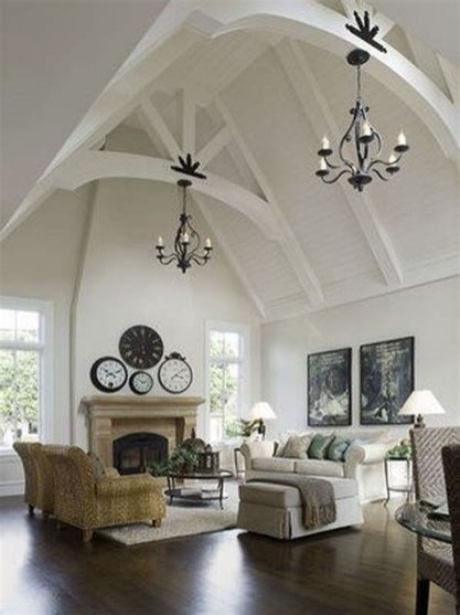 Amazing Small Living Room With Vaulted Ceiling 14