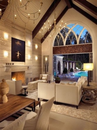 Amazing Small Living Room With Vaulted Ceiling 43