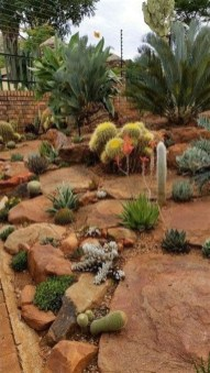 Beautiful Front Yard Cactus Garden Ideas 41