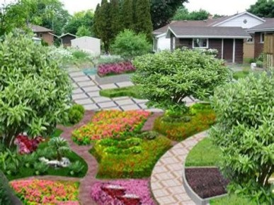 Brilliant Front Yard Corner Lot Landscaping Ideas 07