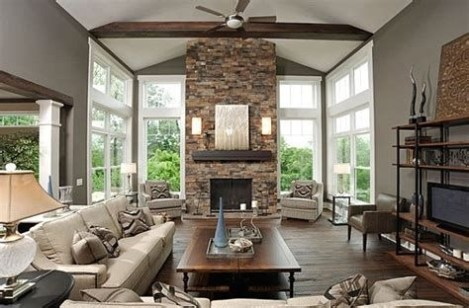 Cool Chimney Ideas For Living Room 08