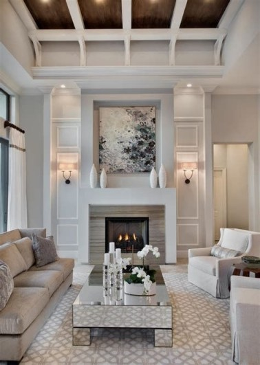 Cool Chimney Ideas For Living Room 36