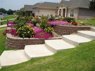Totally Cute Sloped Backyard Landscaping Ideas 19