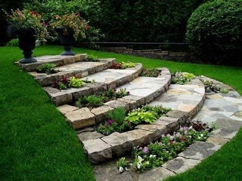 Totally Cute Sloped Backyard Landscaping Ideas 22