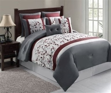Awesome Burgundy And Grey Bedroom Ideas 02