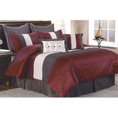 Awesome Burgundy And Grey Bedroom Ideas 14