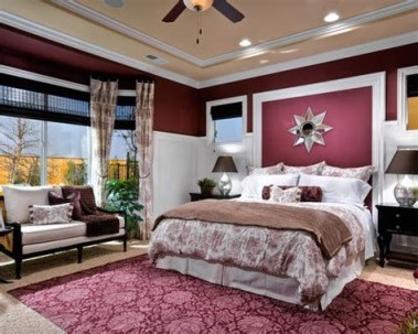 Awesome Burgundy And Grey Bedroom Ideas 30