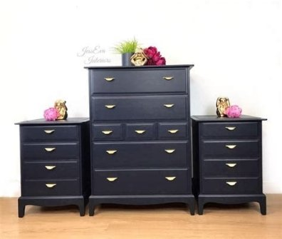 Cool Navy Painted Bedroom Furniture Ideas 32