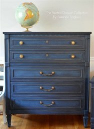 Cool Navy Painted Bedroom Furniture Ideas 36