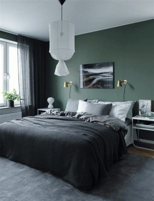 Creative Sage Green Accent Wall Bedroom Ideas 10