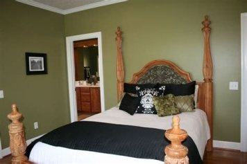 Creative Sage Green Accent Wall Bedroom Ideas 22