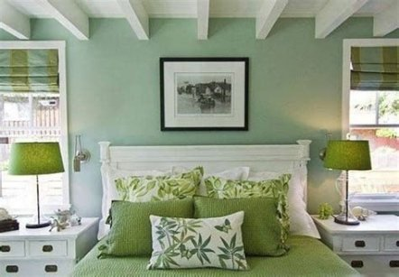 Creative Sage Green Accent Wall Bedroom Ideas 31