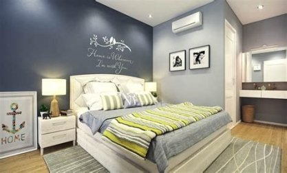 Lovely Two Tone Bedroom Paint Ideas 19