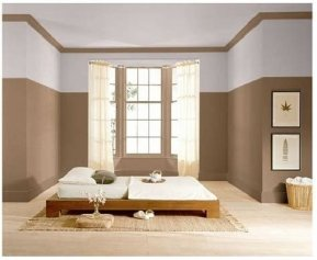Lovely Two Tone Bedroom Paint Ideas 20