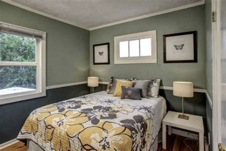 Lovely Two Tone Bedroom Paint Ideas 33