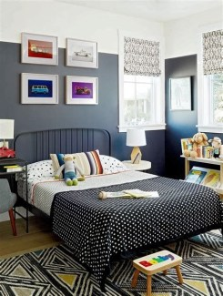 Lovely Two Tone Bedroom Paint Ideas 42