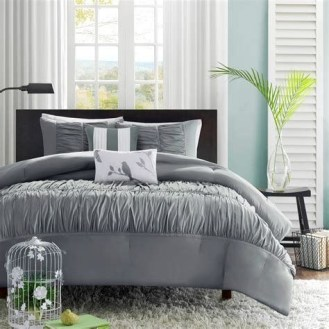 Totally Cute Charcoal Grey Bedroom Set Ideas 02