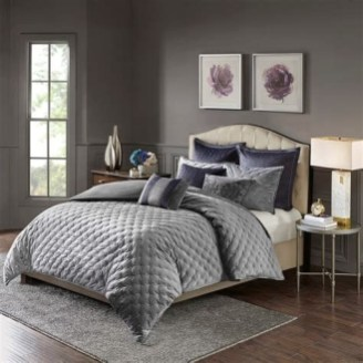 Totally Cute Charcoal Grey Bedroom Set Ideas 03