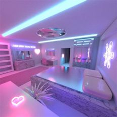 Amazing Aesthetic Rooms With Led Lights Ideas 02