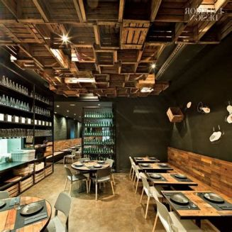 Lovely Low Budget Small Restaurant Design Ideas 15