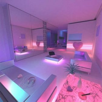 Most Popular Aesthetic Room With Led Lights Ideas 27