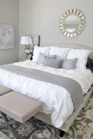 Awesome Grey And White Bedroom Ideas 07