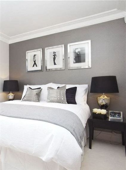Awesome Grey And White Bedroom Ideas 23