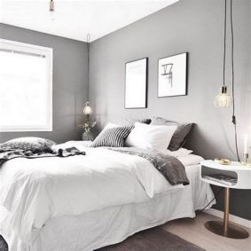 Awesome Grey And White Bedroom Ideas 33